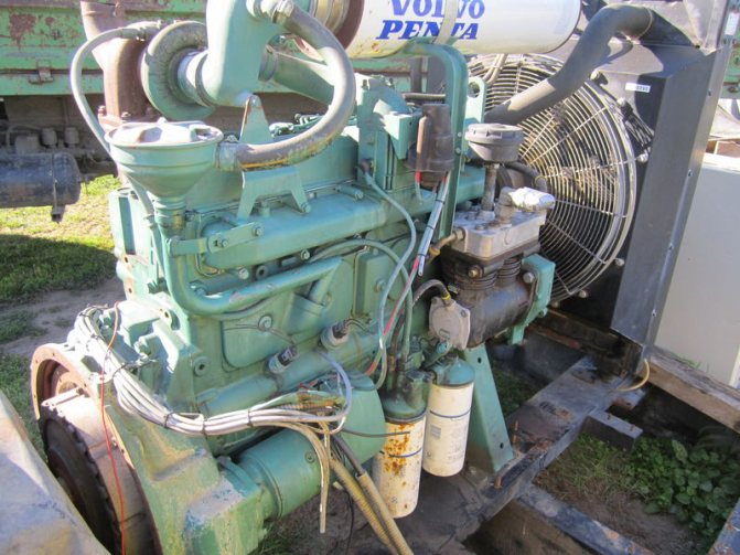 трактор двигатель вольво