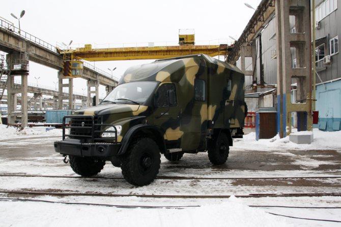 Транспортный вездеходный автомобиль «Тайга-VIP» на базе полноприводного ГАЗ-3308 «Садко»