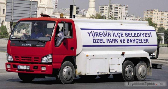 Турецкий Isuzu NQR30 оснащён третьей подъёмной осью для увеличения грузоподъёмности