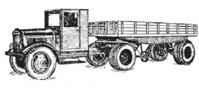 Тягач «Я-НАТИ-12Д» с полуприцепом