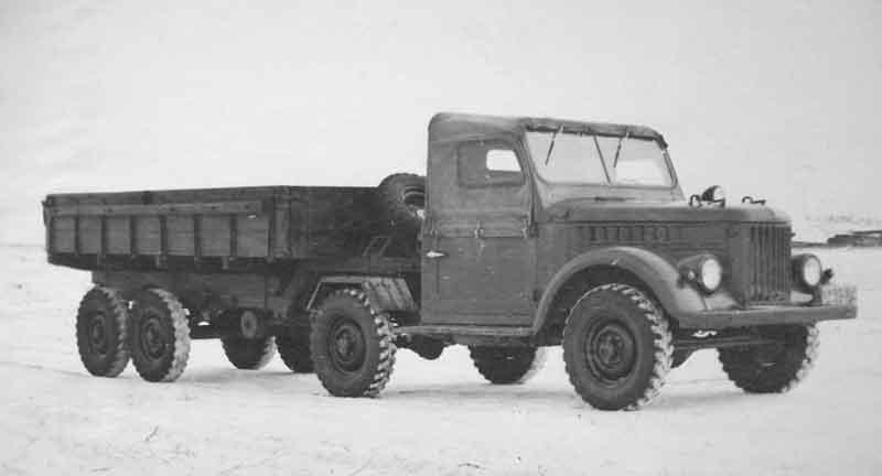 Тягловый козлик. Седельный тягач УАЗ-456