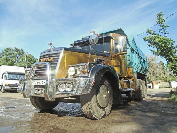 Тюнинг рабочего грузовика КрАЗ-256 256, грузовик, краз, самосвал, тюнинг