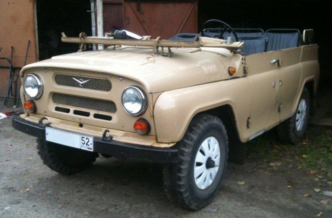 УАЗ 469 без тента и дуг