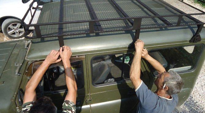 Установка экспедиционного багажника на УАЗ