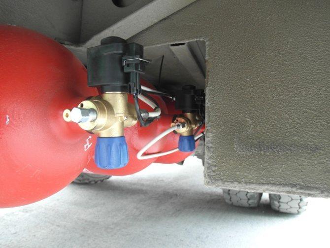 Вентиль баллонный с пожарным и запорным электромагнитным клапанами
