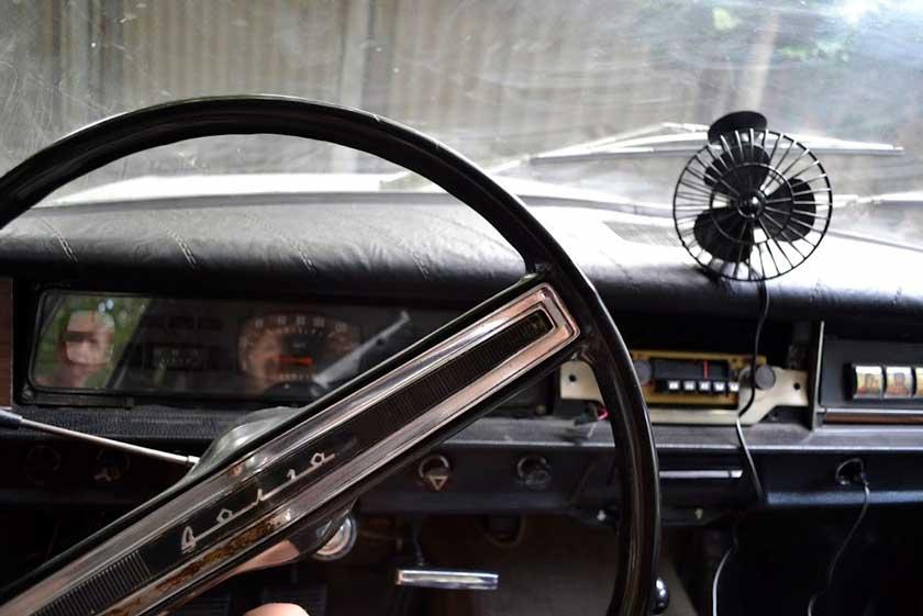 Вентилятор в салоне Волги - пример советского тюнинга