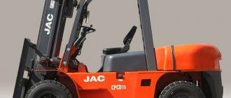 Вилочный погрузчик JAC CPCD 70