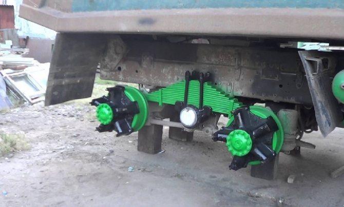 Внешний вид задней подвески автомобиля
