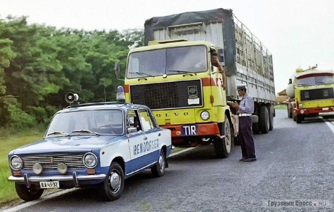 Volvo F89-32 (4x2) болгарского агентства международных перевозок «Сомат». Работали тягачи Volvo F89 и у польских перевозчиков Pekaes, PLO и Transocean, чехословацкого ĆSAD, венгерского Hungarocamion и Deutrans из ГДР