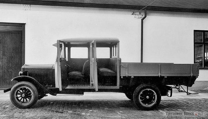 Volvo LV60 с двойной кабиной. 1929 г.