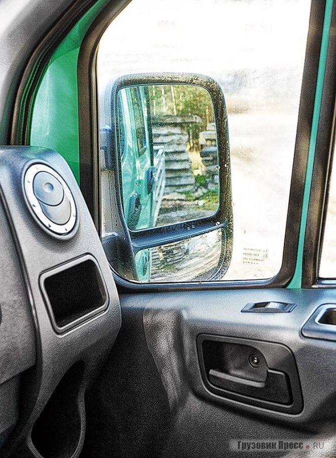 Зеркала полноценные, с электрорегулировками и обогревом. Нижняя линза неподвижна