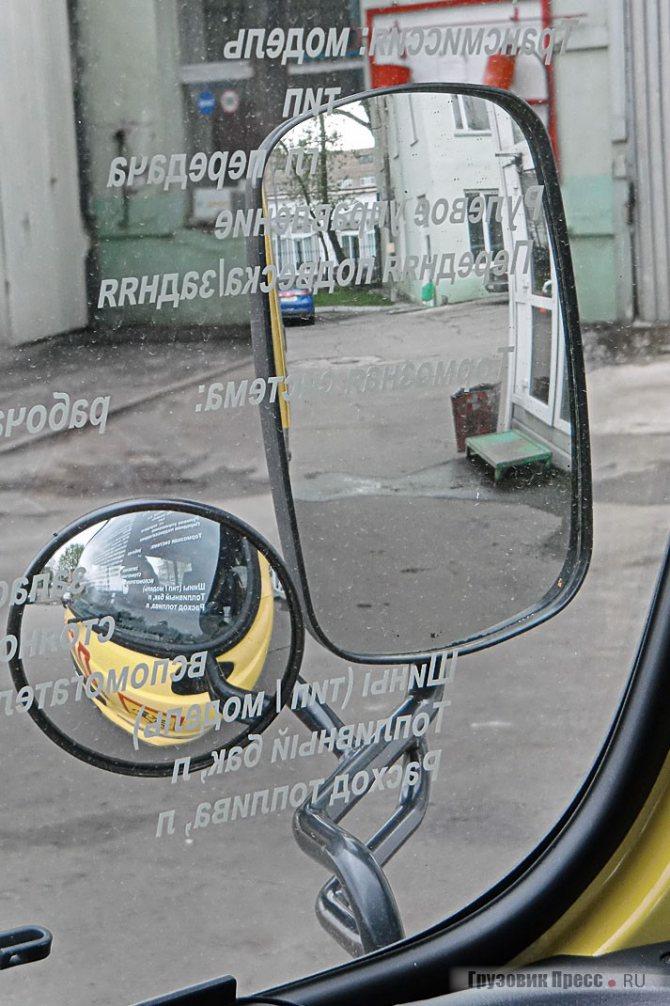 Зеркала снабжены подогревом