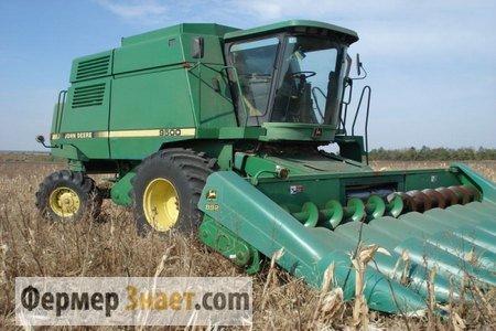 Жатка для уборки кукурузы