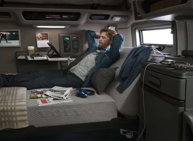 Зона комфорта, отдыха в Volvo серии vnl